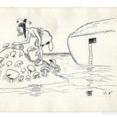 Arte: DIBUJO ORIGINAL DE JOAQUÍN XAUDARÓ. DIBUJANTE, ILUSTRADOR Y CARICATURISTA.. Lote 140360330