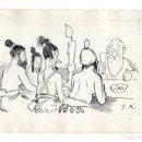 Arte: DIBUJO ORIGINAL DE JOAQUÍN XAUDARÓ. DIBUJANTE, ILUSTRADOR Y CARICATURISTA.. Lote 140362578