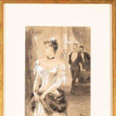 Arte: SEDUCCIÓN. JOSEP LLOVERA BOFILL. REUS 1846-1896. REFERENCIADA EN ANVERSO. PIEZA COLECCION. Lote 140542694