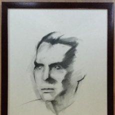 Arte: DIBUJO CON RETRATO DE FEDERICO GARCÍA LORCA. (33X46CM). Lote 140571874
