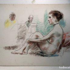 Arte: DIBUJO ATRIBUIBLE A LLOBET Y RIBAS.. Lote 140693446