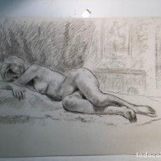 Arte: DIBUJO ATRIBUIBLE A LLOBET Y RIBAS, DESNUDO.. Lote 140694422