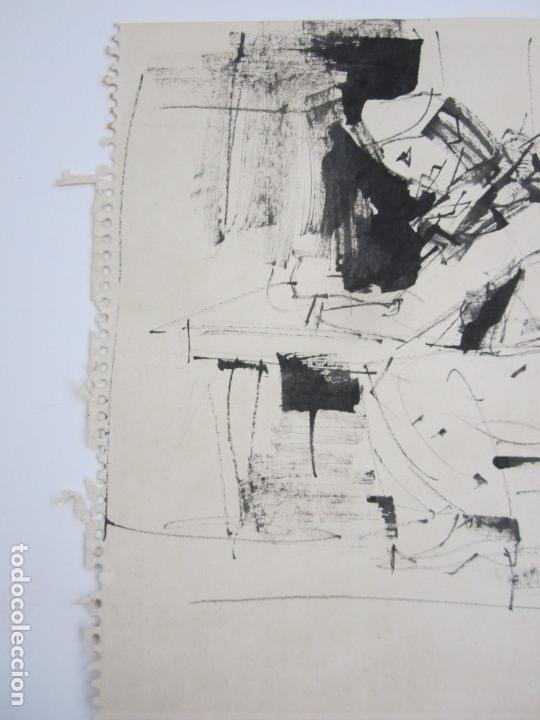 Arte: Personajes, dibujo, firma ilegible. 31x21,5cm - Foto 4 - 140840042