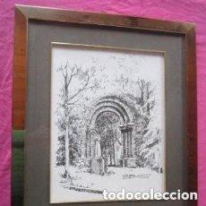 Arte: DIBUJO DE ALFONSO CREADOR DE PININ ENMARCADO DE 45 X 54 CM.. Lote 140853150