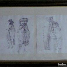 Arte: CARLOS LAHARRAGUE 2 DIBUJOS A LAPICERO. Lote 141122610