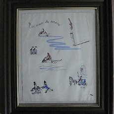 Arte: PLUMILLA Y AGUADA FIRMADA. Lote 141348614