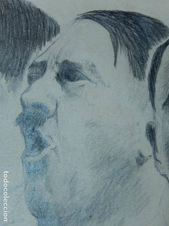 Arte: Dibujo a carboncillo / lápiz, de Adolf Hitler. Firmado Albert Speern. - Foto 6 - 141500498
