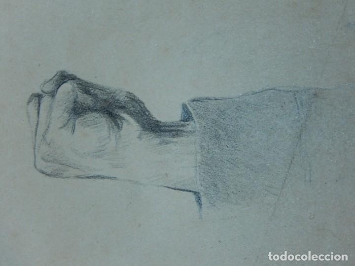 Arte: Dibujo a carboncillo / lápiz, de Adolf Hitler. Firmado Albert Speern. - Foto 8 - 141500498