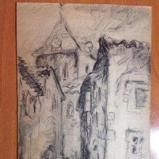 Arte: FRANCISCO LLORENS. UNA CALLE DE BRUJAS.. Lote 141520386