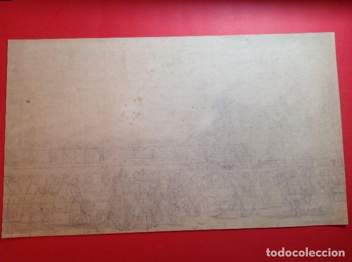 VICENTE POVEDA. ESCENA CAMPESTRE. (Arte - Dibujos - Modernos siglo XIX)