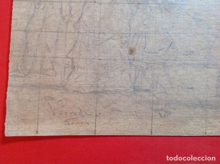 Arte: Vicente Poveda. Escena campestre. - Foto 2 - 141521278
