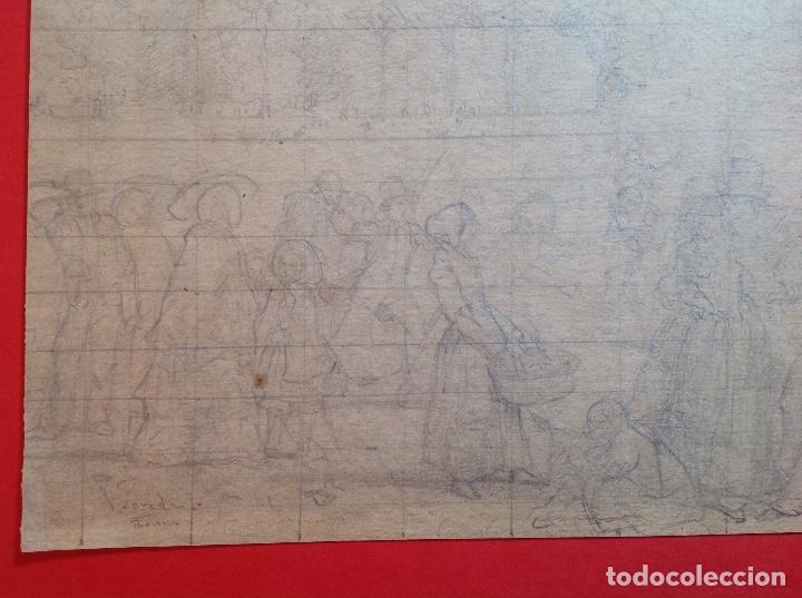 Arte: Vicente Poveda. Escena campestre. - Foto 3 - 141521278