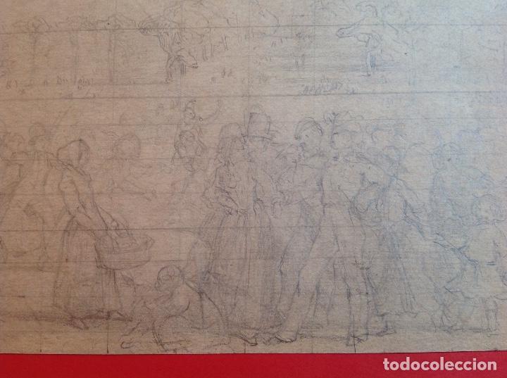 Arte: Vicente Poveda. Escena campestre. - Foto 4 - 141521278
