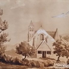 Arte: JEAN FÉLIX SALNEUVE, DIBUJO Y ACUARELA, 1840, FIRMADO. Lote 141635582