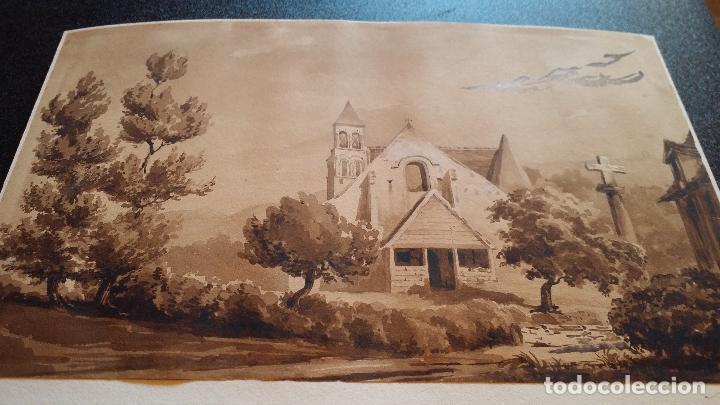 Arte: Jean Félix SALNEUVE, dibujo y acuarela, 1840, firmado - Foto 10 - 141635582