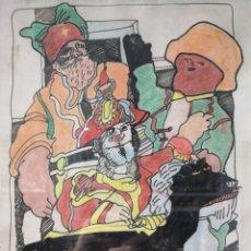 Arte: ALFONSO ABELENDA. (CORUÑA 1931). UNA DE PIRATAS.. Lote 56340333