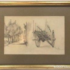 Arte: PERE BORRELL DEL CASO (1835-1910): APUNTS DE CAMP. LA CERDANYA. LÁPIZ /PAPEL DOBLE CARA 10 X 15,5 CM. Lote 141674978