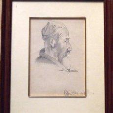 Arte: SINTO FAURA. DIBUJO SOBRE PAPEL ÁRABE. FIRMADO A MANO. 1941.. Lote 141792398