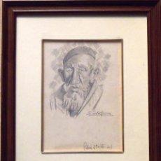 Arte: SINTO FAURA. DIBUJO SOBRE PAPEL. ÁRABE. FIRMADO A MANO. 1941.. Lote 141792850