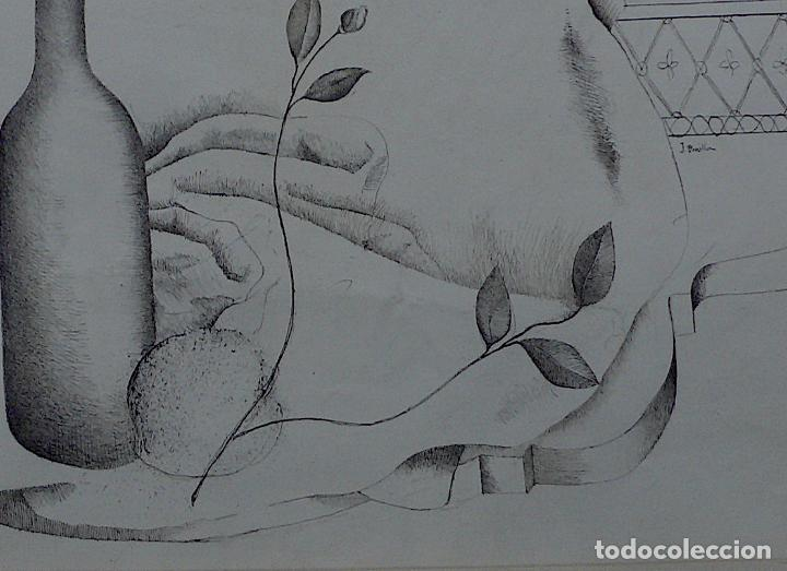 Arte: JOSE BONILLA DIBUJO TINTA BODEGON - Foto 3 - 141825938