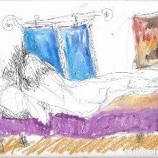 Arte: DIBUJO ORIGINAL TÉCNICA MIXTA. M. ESTÉVEZ. Lote 141942554