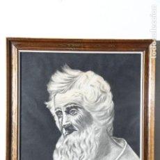 Arte: EXCELENTE CARBONCILLO DE PERSONAJE CLÁSICO. Lote 141153666