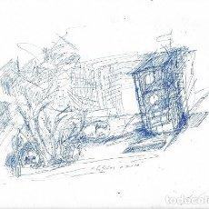 Arte: DIBUJO ORIGINAL BOLÍGRAFO. M. ESTÉVEZ. Lote 142072290