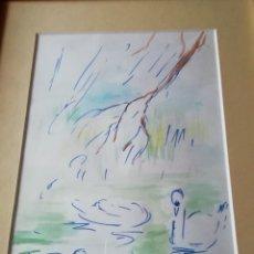 Arte: ESTANQUE CON PATOS, COLL BARDOLET. Lote 142190916