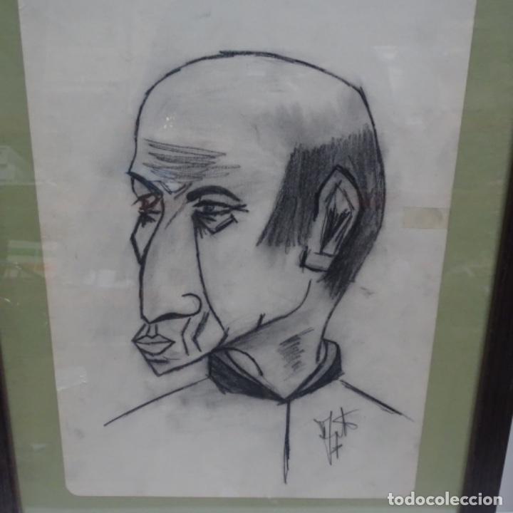 DIBUJO CARICATURA PICASSO? FIRMA ILEGIBLE. (Arte - Dibujos - Contemporáneos siglo XX)