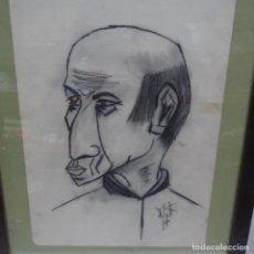 Arte: DIBUJO CARICATURA PICASSO? FIRMA ILEGIBLE.. Lote 142210046