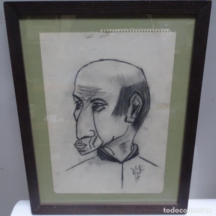 Arte: Dibujo caricatura Picasso? Firma ilegible. - Foto 2 - 142210046