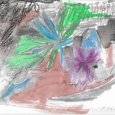 Arte: DIBUJO ORIGINAL PÚRPURA M. ESTÉVEZ. Lote 142398246