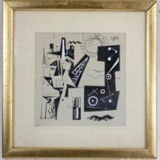 Arte: CARLOS PASCUAL DE LARA (1922-1958), DIBUJO EN TINTA, VANGUARDIA, TÉCNICA MIXTA, POSGUERRA ESPAÑOLA.. Lote 142521834