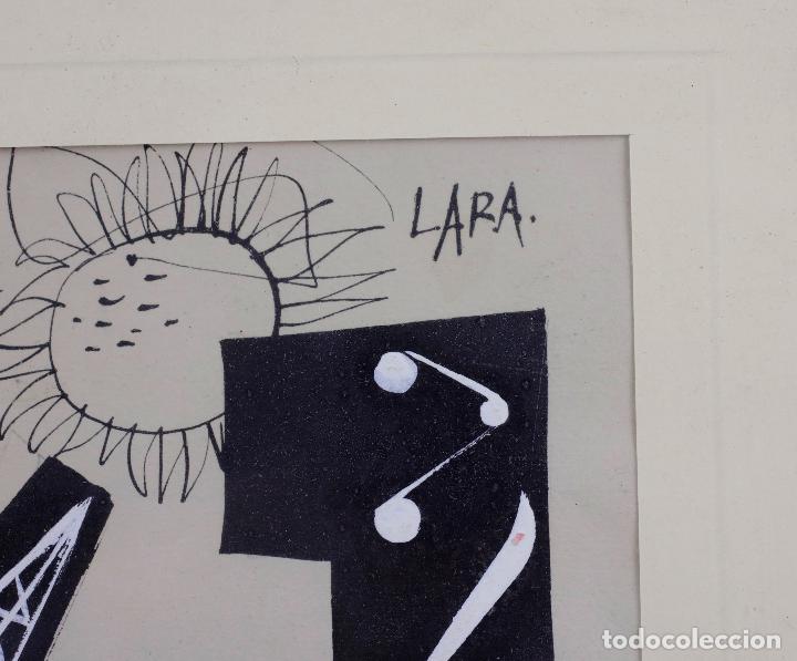 Arte: Carlos Pascual de Lara (1922-1958), dibujo en tinta, vanguardia, técnica mixta, posguerra española. - Foto 2 - 142521834