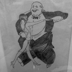 Arte: DIBUJO EROTICO A LAPICERO FIRMADO. Lote 142698526
