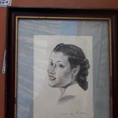 Arte: DIBUJO A COLOR FIRMADO ILEGIBLE.. Lote 142753153
