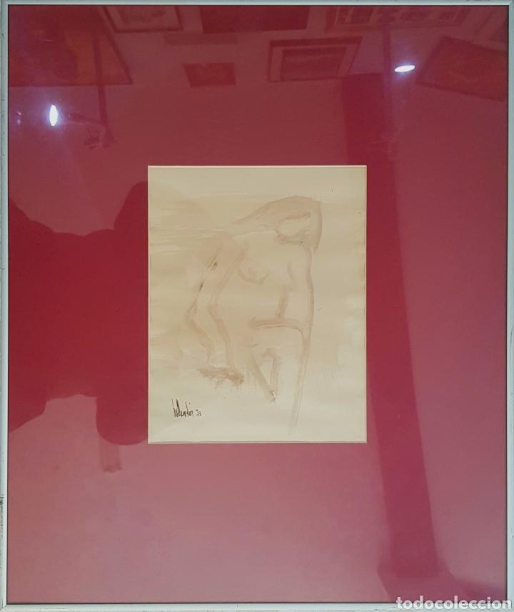 Arte: Gino Hollander, pequeño dibujo desnudo femenino firmado. - Foto 2 - 142754952