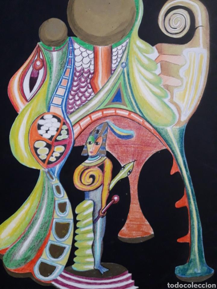 Jamika Collage Y Dibujo A Lápiz De Color Sobr Kaufen