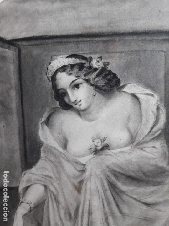 Arte: Dibujo siglo XIX Romántico - Foto 3 - 142883718