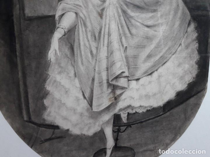 Arte: Dibujo siglo XIX Romántico - Foto 4 - 142883718