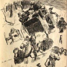 Arte: 1892 LIBRO CON ORIGINALES Y ARTISTICOS ANOTACIONES - SCRAPBOOK - DIBUJO. Lote 143044406