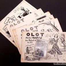 Arte: 6 DIBUJOS ORIGINALES - OLOT - DOU Y ANTON ROCH O ANTON ROCA. Lote 143233694
