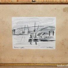 Arte: JEAN TARGET (1910-1997) - DIBUJO - NEW HAVEN ANGLATERRE - AÑOS 50 . Lote 143298542