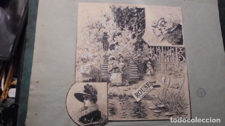 ANTIGUO DIBUJO A PLUMILLA FIRMADO GAY PUBLICADO EN LA REVISTA LA ESQUELLA DE LA TORRATXA (Arte - Dibujos - Modernos siglo XIX)