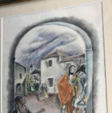 Arte: JOSÉ LUIS FLORIT - DIBUJO A COLOR PARA ILUSTRACIÓN. Lote 143412666