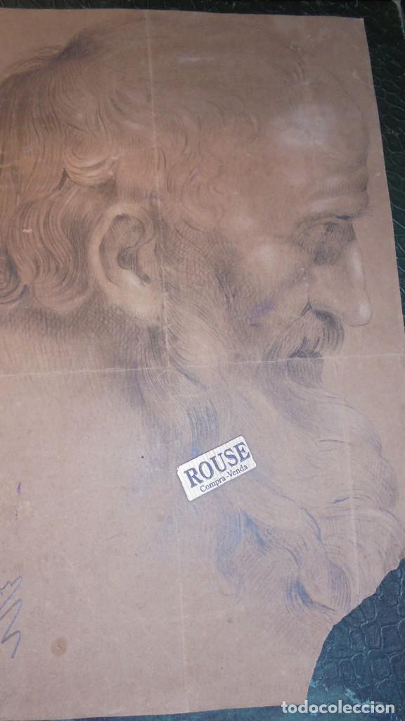 Arte: ANTIGUO DIBUJO SIGLO XVIII- XIX - NO PODEMOS LEER LA FIRMA PUIGG..OS..¡¡ - PERDIDA DE UNA PUNTA DE P - Foto 2 - 143728474