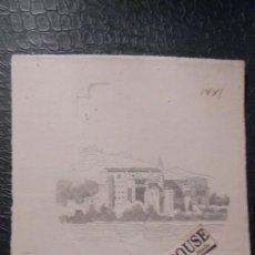 Arte: ANTIGUO PAISAJE - DIBUJO A PLUMA PAISAJE 1881 - 17X15 CM. . Lote 143732754