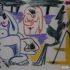 Arte: ``LAS GORDAS´´ SEGÚN PABLO RUIZ PICASSO, TECNICA DE CERAS, FECHADO 26/7/1961. Lote 143745546