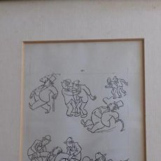Arte: DIBUJO HUMORISTA GAIETA CORNET. Lote 144102174