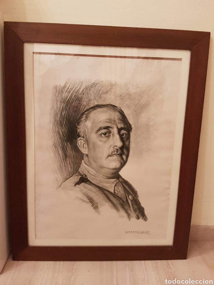 RETRATO DE FRANCISCO FRANCO A LÁPIZ REALIZADO POR ISMAEL BLAT - BENIMAMET VALENCIA 1901-1976 (Arte - Dibujos - Contemporáneos siglo XX)